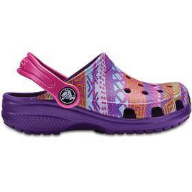 Crocs Classic Graphic Sandalen Kinderen violet/bont